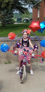 bikes 1st most patriotic Emily Brown